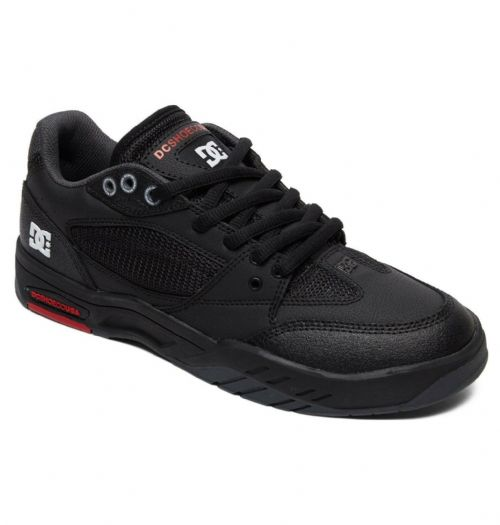 DC SHOES MENS TRAINERS.NEW MASWELL BLACK LEATHER RUBBER SOLE SKATE SHOES 9S 473